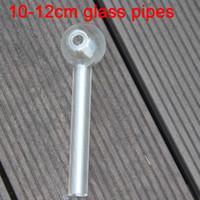 QBSOMK 4.8 pulgadas (12 cm / 10cm) Clear Pyrex Vidrio Aceite de vidrio quemador de vidrio transparente Tubo de vidrio quemando tubos de agua para fumadores