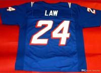 Özel Nadir 1995 # 24 Ty Kanunu mavi Beyaz Renk Erkekler Oyunu Aşınmış RETRO Jersey Koleji Jersey Boyut veya özel herhangi bir ad veya numara formayı-5XL S