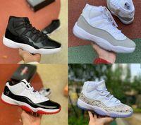 2020 أحذية Jumpman 11 رياضة الأحمر شيكاغو كرة السلة منتصف الليل البحرية 82 المدربين UNC الفضاء المربى 45 11S الرجال ريترو احذية رياضية أحذية رياضية