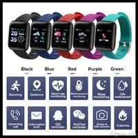 Fitness Tracker ID116 Plus سوار ذكي مع معدل ضربات القلب الذكية ضغط الدم معصمه 116 بلس F0 ل fitbit mi band 116plus