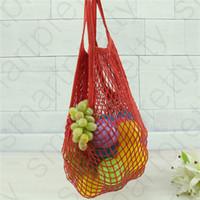 재사용 쇼핑 식료품 가방 과일 야채 메쉬 구매자 토트 짠 그물 가방 휴대용 어깨 여성 홈 스토리지 가방 핸드백 D31008
