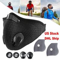 Trasporto veloce viso Sport maschera con filtro carbone attivo PM 2,5 Anti-Pollution respirazione Valvola Running Training Bike protettivo nuove maschere