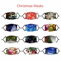 Fashion Christmas Mask Deer Snowflake Christmas Trees Xmas P...