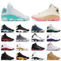 Горячая продажа 13 13s Jumpman баскетбол обувь Белый Сор Зеленый Розовый Китайский Новый год Остров Зеленый Чикаго Разводят мужские тренеры спортивные кроссовки