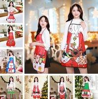 anciano vestido de muñeco de nieve delantal de decoración de Navidad restaurante Hotel partido Inicio Delantal de la cocina de Navidad Decoración LL129