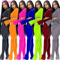 Adogirl 2020 Autumn Casual Two Piece Set Women Tracksuit Lon...