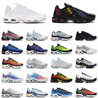 nike air max plus tn chaussures de course triple noir blanc Shark Hyper Blue Spray Paint Scream Green hommes baskets de sport