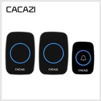 CACAZI الأحدث LED الذكية الجرس 300M مقاوم للماء عن بعد لاسلكية صغيرة جرس الباب الدقات 38 20-85dB الاتحاد الأوروبي / المملكة المتحدة / الولايات المتحدة قابس الباب الدائري
