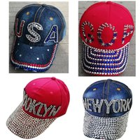 5 tipos Trump Rabo Bola Cap EUA chapéu Cap Diamante da campanha eleitoral do chapéu de vaqueiro ajustável Snapback Mulheres Denim Diamante Hat EEA1991