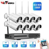 WETRANS 8CH 1080P NVR CCTV Sistema de Segurança Home Câmera Sem Fio Ao Ar Livre Visão Noturna 720p Câmeras Video Vigilância Wi-Fi Kit