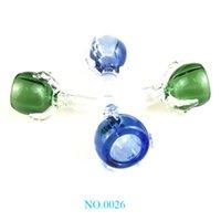 Populaire Nouveau style 14mm 18mm dragon griffe en verre avec bols bleu / vert Homme verre Bols pour les tuyaux d'eau en verre Huile Rigs Bongs zx