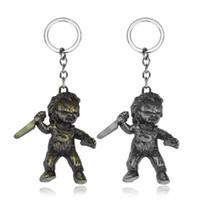 Schlüsselanhänger Film Samen Braut Fluch von Chucky Anhänger Kinderspiel Triloquist Puppe Metall Keyring Choker Männer Schmuck Geschenke
