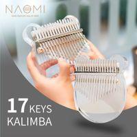 NAOMI Kalimba Akrilik 17 Tuşlar Şeffaf Başparmak Piyano