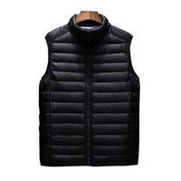 Мужские жилеты Aiwetin мужская куртка без рукавов жилет зимняя мода мужские хлопковые пальто мужские стойки воротник сгущает жилет одежды