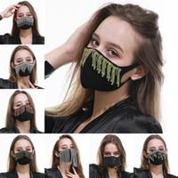 Máscara de tela de algodón de moda Cara Lucha contra Haze Boca Respirador Negro Proteja reutilizable Mascarilla larga de los hombres borlas joya transpirable Señora 16 5RG b2