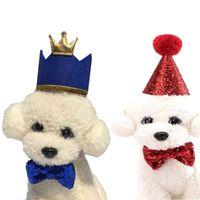 Pet Cat собак День рождения Bowknot костюм головной убор Caps Hat Birthday Party костюм Headwear Pet Accessory
