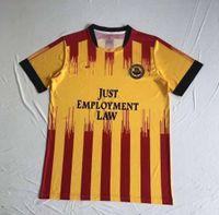 Partick 엉겅퀴 홈 노란색 축구 유니폼 2020 2021 조 카들 잭 Rudden 브라이언 Grah 알렉스 존스는 Bannigan 도처 티 축구 셔츠 유니폼입니다