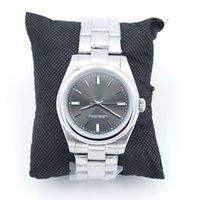 Novo Nice Automático 2813 Movimento 40mm Liso Bezel Relógio Relógios Aço Inoxidável Azul Azul Lume Ródio Escuro 114300 Mens relógios de pulso