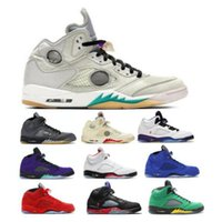 Aus Jumpman Basketball-Schuhe 5 5s Fire Red Suede Oregon Ducks Alternate Bel-Air Oreo Blau 2020 Herren Damen Chaussure Trainer-Turnschuhe