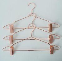 Северный стиль розовые золотые металлические брюки юбка слабые вешалки с зажимами вешалка стойки магазин одежды гардероб органайзер