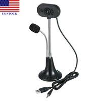 Webcam della macchina fotografica Digital Camera Web w / Mic USB HD per computer portatile del PC registrabile Stock C0232 US