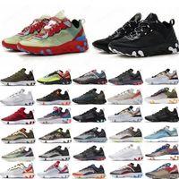 Olive React élément 87 55 Hommes chaussures Running Tour jaune UNDERCOVER Camo hommes rouges femmes espadrilles de sport triple voile blanc noir étanchées Seams