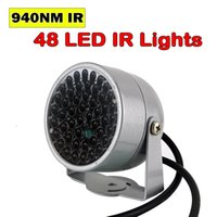 Nuovo illuminatore invisibile 940nm a infrarossi a infrarossi 60 gradi 48 LED IR luci per visione notturna CCTV Security 940nm IR Camera di riempimento della fotocamera