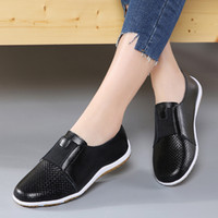 Women Flats Summer Autumn Shoes Women Genuine Leather Shoes Chaussures Femme Casual Loafers Ballet Flat