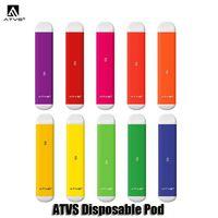 Authentic ATVS Disposable Device Pod Kit 350mAh Battery 1.8ml Cartridges Vape Pen VS VGOD Stig Puff Plus Bar Genuine