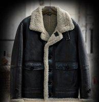 hakiki deri yüzey yün astar motorcu ceketi ceket b3 koyun derisi 2020 kış erkek moda rahat koyun kürk