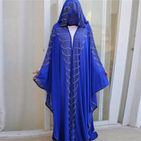 Siskakia strass perle manches chauve-souris Abaya Robe intransportables 2020 Nouvelle islamique Arabian Muslim ROBES Tenues Eid
