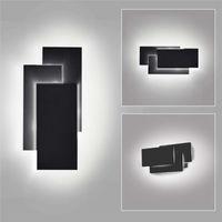 Moderne Wandleuchten LED-Beleuchtungskörper Lampen 12W-Platz Kreative Wandleuchten Schwarz / Weiß für Wohnzimmer Schlafzimmer Flur