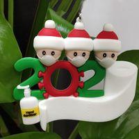 2020 Ornamento del regalo del partido de cuarentena Cumpleaños Decoración de Navidad Familia de Productos personalizada de pandemia de Mascarillas mano Sanitized