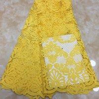 düğün için Afrika gipür kord dantel kumaş yüksek kaliteli swiss vual dantel kumaşlar moda nakış net dantel kumaş