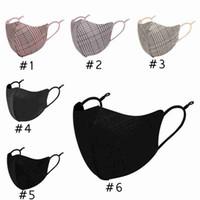 Mode Plaid Masques visage unisexe respirant de protection bouche Masque lavable réutilisable Masque réglable en suède Tissu Designer Masques CYZ2625
