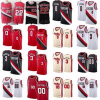 Clyde 22 Drexler Carmelo 00 Anthony Basketball Jersey Mens Damian 0 Lillard CJ 3 McCollum RIP 시티 셔츠