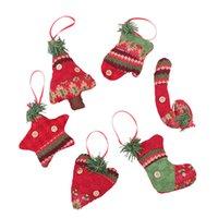 Decoraciones de Navidad árbol de Navidad Colgantes creativas calcetines de la Navidad Bastones regalo Adornos Escena Vestirse Suministros envío