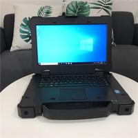 20020 Usato robusto estremo portatile Dell E7404 i5 4300 8g Con 250g SSD Windows 10 PC per auto strumento diagnsotic con conducente