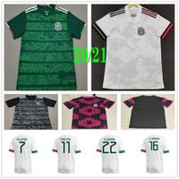 2020 2021 멕시코 축구 jerseys h.lozano g.dos santos chicharito m.layun h.herrera custom home outer 남성 여성 아이들 축구 셔츠