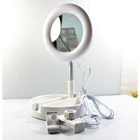 G3 HOT 2 في 1 حامل الهاتف Selfie Ring Light قابل للتعديل الارتفاع العالمي ل YouTube Ins FB Live Stream على الانترنت تعليم الفيديو