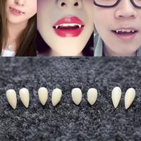 DIY Çevre Dostu Reçine Diş Izgaralar Cadılar Bayramı Kostüm Aksesuarları Dikmeler Parti 1 Çifti 4 Boyut Protez Dikmeler Vampir Dişleri Dişler