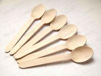Cuillère en bois à usage unique Mini crème glacée cuillère en bois Party Dessert Scoop mariage Art de la table Accessoires de cuisine Outil
