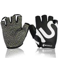 Luvas Ginásio Homens Mulheres Body Building Meio Dedo de Fitness Luvas An-derrapante Levantamento de peso luvas Treinar dedos