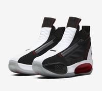 최고의 Jumpman XXXIV (34) 적외선 (23) 농구 신발 34S는 화이트 레드 블랙 이클립스 블랙 화이트 남성 스포츠 운동화 상자 자란 줌이