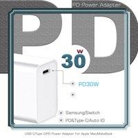 USB C адаптер питания PD / QC3.0 30W настенное зарядное устройство типа для ноутбуков USB-C / MacBook / Xiaomi / зарядные устройства Samsung