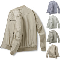 Mens Jacket Primavera e homens jaqueta de meia-idade e idosos Outono novos homens jaqueta casual estilo fashion