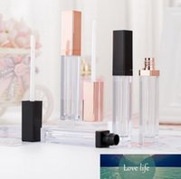 5ML Lip Gloss Containers Empty Square Lip Gloss Tube Makeup Lip Oil Container Plastic Tubes Black Rose Gold SN703