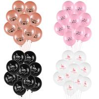10pcs 12inch Noiva a ser Hen Wedding Day Bachelor Party Decoration Equipe balão de ar Noiva Flamingo Latex Balloon Para Namorados