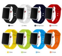 Silikonband für Apple-Uhr 38mm 42mm Sport Armband Gummiuhrenarmband für Iwatch 5 4 44 mm 40 mm für Apple-Uhr-3 2 1
