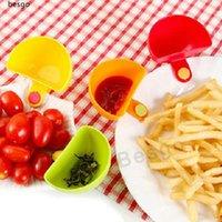 Vendite calde Dip Ciotola Per assortiti insalata salsa ketchup Jam sapore di zucchero spezie Dip clip Coppa Bowl Piattino da cucina Accessori Gadgets BH2782 DBC